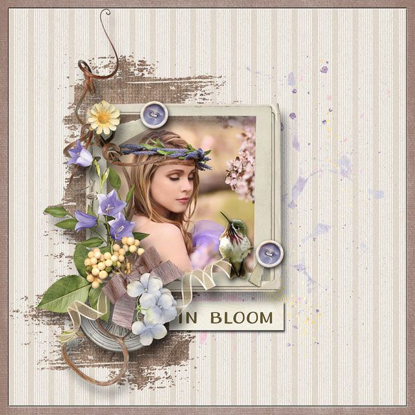 """""""In Bloom"""" by Alexis Design Studio http://www.thedigichick.com/shop/In-Bloom-Kit.html photo Katie Andelman Photographer use with permission"""