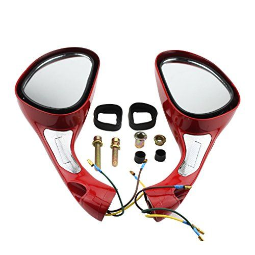 GOOFIT One Pair 8mm Rearview Mirrors for 50cc 70cc 90cc 110cc 125cc 150cc 250cc Scooters Moped Motorcycle Red:   This 8mm Rearview Mirror fits for 50cc 70cc 90cc 110cc 125cc 150cc 250cc Scooters Moped Motorcycle Red