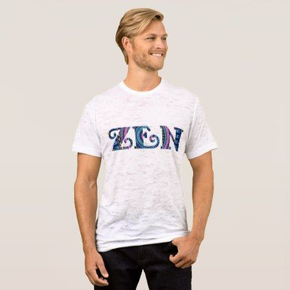 """""""Zen"""" Men's Canvas Fitted Burnout Tee - heart gifts love hearts special diy"""