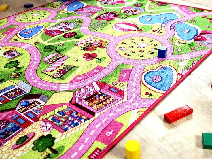 Good Kinder Spiel Teppich Girls Rosa Village Teppiche Kinder und Spielteppiche Snapstyle Kinderteppiche