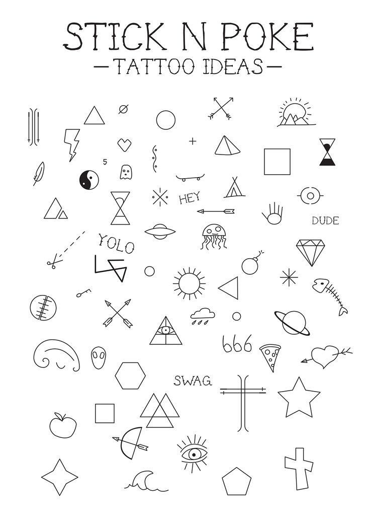Designing a few Stick 'N Poke Tattoo ideas, hope you like.