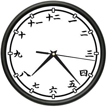 KANJI Wall Clock japanese chinese numerals writing gift #SignMission