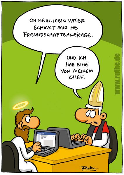 Cartoon von Ruthe #facebook