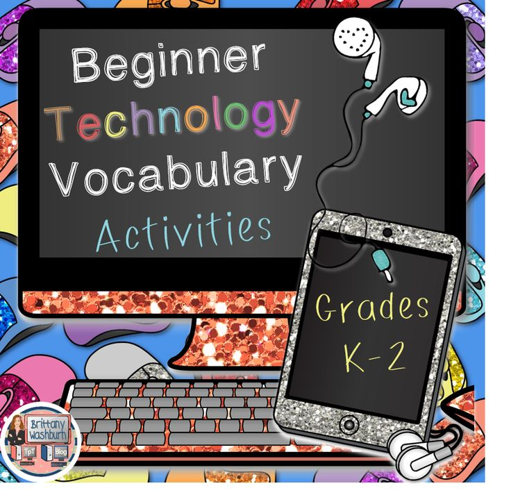 Differentiated technology vocabulary activities for your grades K-2 technology students. Printables, foldables, cut and paste, search and find, fill in the blanks, and more. Perfect for introducing new words or when you're not able to get on the computers. Great sub plans. $