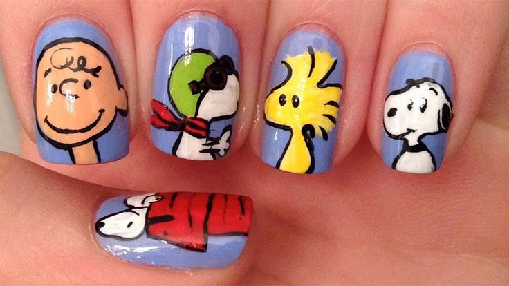 Tuto : Des ongles aux personnages du film snoopy