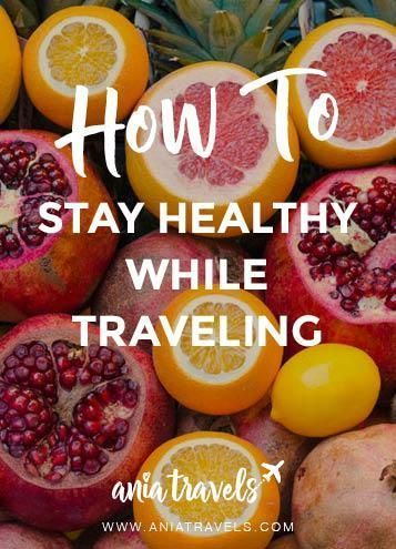If you're anything like me you try to be as health cautious as possible. Here are some tips on how to stay healthy while traveling.