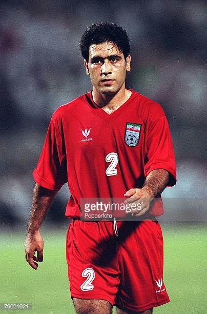 Sport Football 2002 World Cup Qualifier AFC Second Round Group A Jeddah 28th September 2001 Saudi Arabia 2 v Iran 2 Iran's Mehdi Mahdavikia