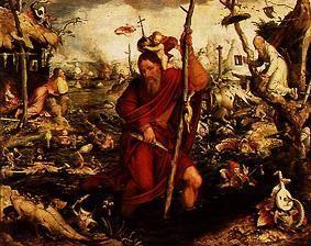 Мандейн Ян (1502-1560) — Святой Христофор. (Мюнхен. Старая Пиникотека)