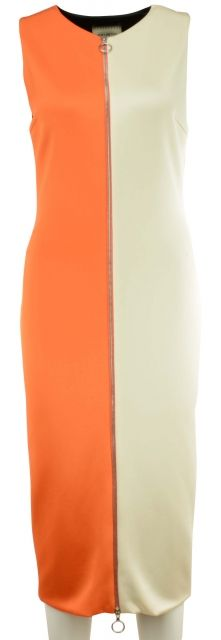 Orange+Ivory Dress by Fausto Puglisi
