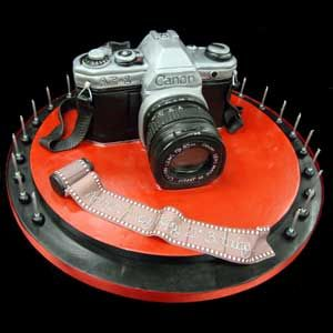 Camera and Film cake