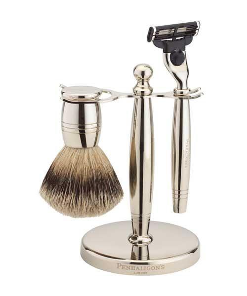 Penhaligon's Nickel Shave Set - The Emporium Barber, Mens Shaving Kits
