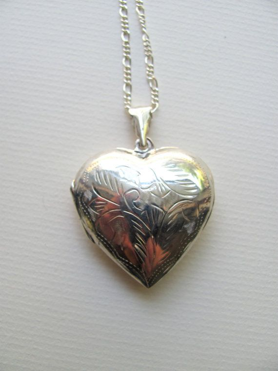 Oversized sterling silver vintage heart by MySoCalledVintage