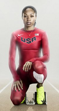 Nike Unveils U.S. Olympic Track Uniforms. Hot speed suits for the sprinters.