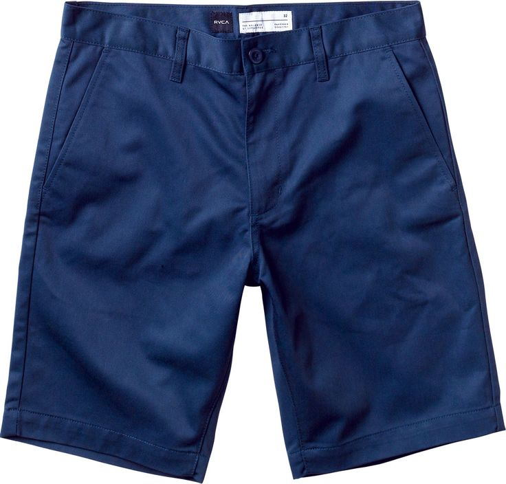The RVCA Week-End shorts are slim fit, twill chino slack shorts with zipper fly closure. They feature slash pockets at front and single welt pockets at ...Vic