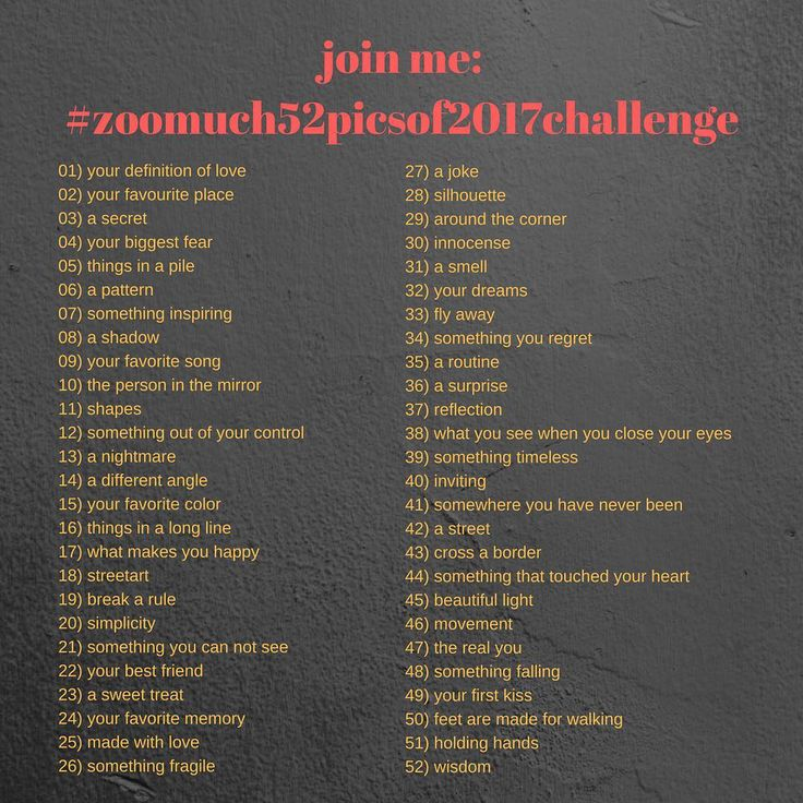 Join me for the #zoomuch52picsof2017challenge  I want to do a photo challenge in 2017 but did not find one that I liked so I created my first an list. I hope I can motivate a lot of you to join me. Use #zoomuch52picsof2017challenge and I will  be able to find your pictures related to my challenge. Start is first week of January 2017. I will share a weekly update on the topic that is up for the week. #zoomuch #photochallenge2017 #photochallenge #picturechallenge #challenge #letsdothis