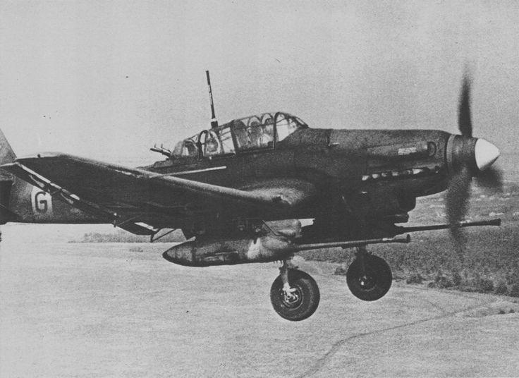 vintage stuka flying