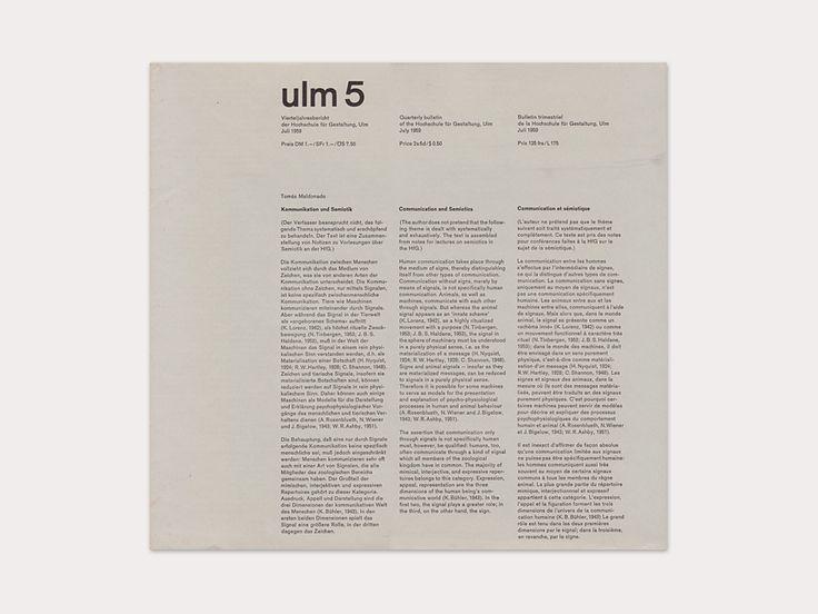 Ulm Journal, 5