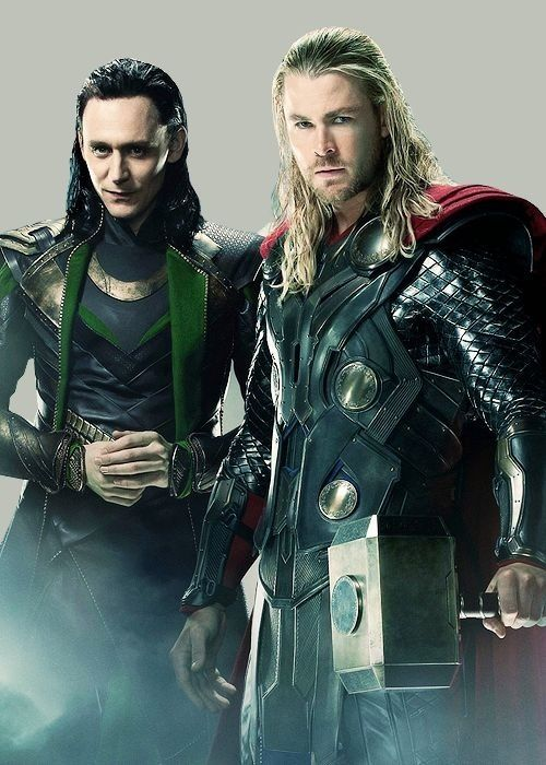 Thor and Loki from Thor, The Avengers, and Thor: The Dark World. They're family, they love each other but they have...some issues.