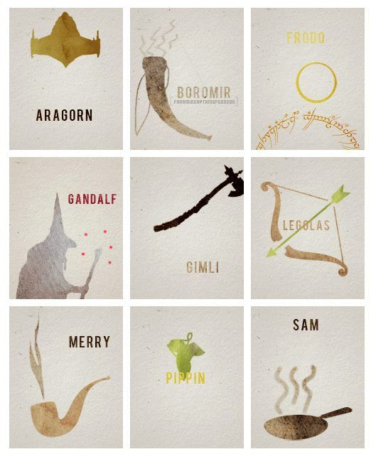 Lovely minimalist The Lord of the Rings art
