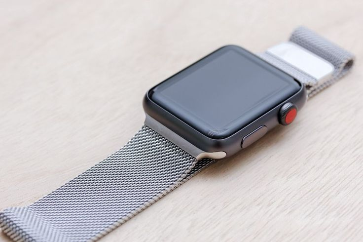 Apple Watch Sport Space Grey Case with Milanese Loop.