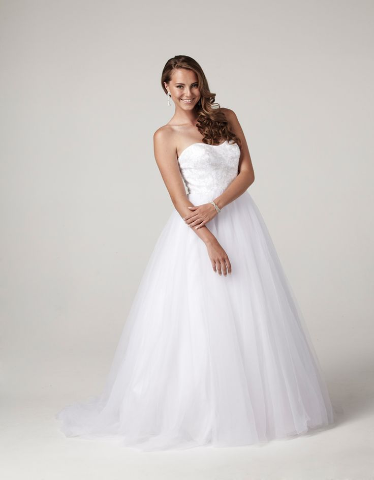 Empire line fully beaded bodice tulle baallgown