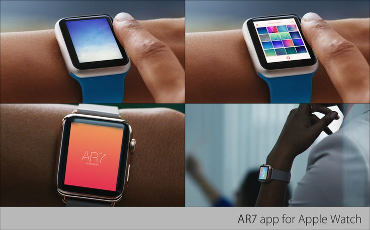 AR7 app concept designed for  Watch