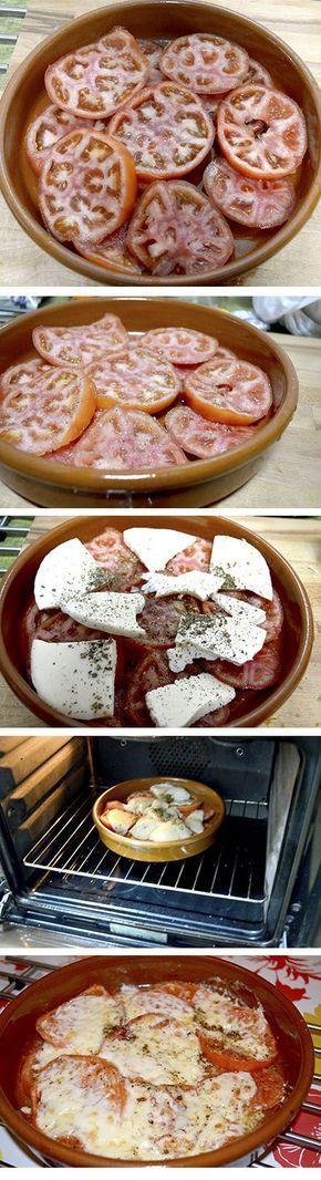 Aprende a hacer Provolone con tomate al horno. #RecetasGalaicus #receta #provolone #horno