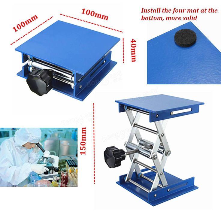 Plates-formes laboratoire-lift de levage 4 × 4 pouces debout crémaillère oxyde…
