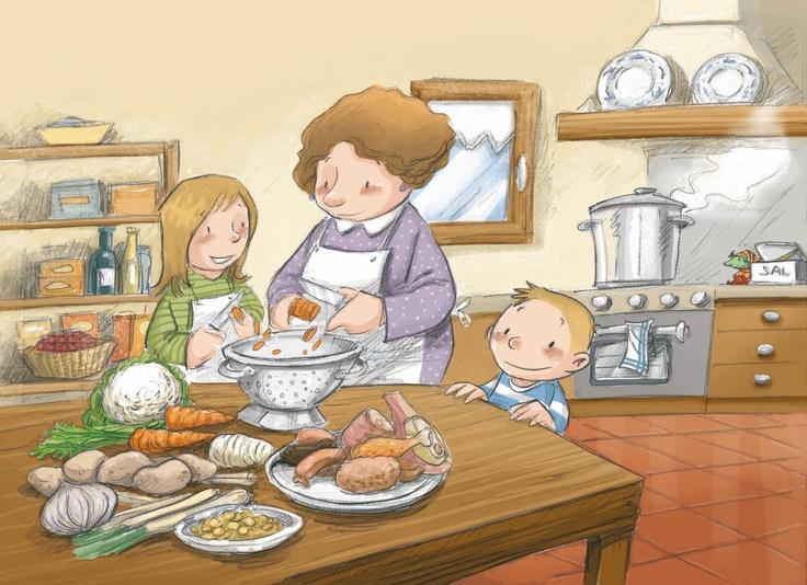 Escudella i carn d'olla. Il·lustració de Subi.