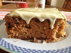 Κέικ με καρότο και γλάσο τυριού