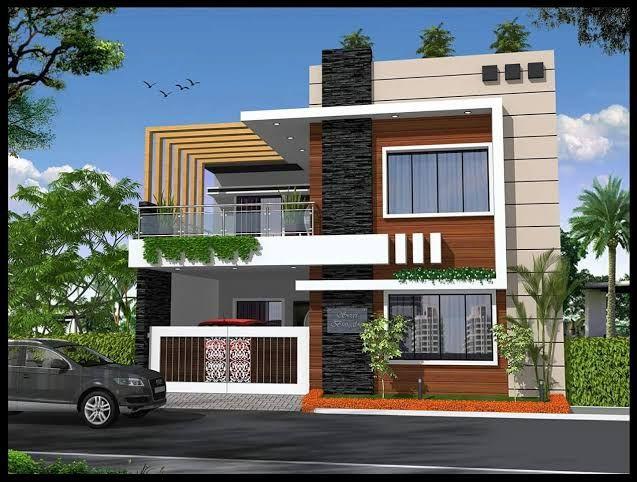 Normal House Front Elevation Designs Google Search Kerala House Design Duplex House Design Modern House Design