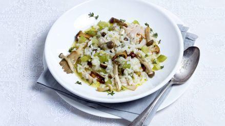 Risotto met kip, bleekselderij en paddenstoelen - Recept - Allerhande - Albert Heijn