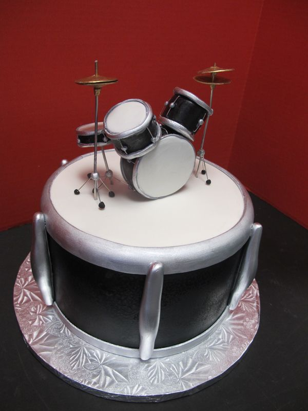 drum+set+cake Drumset Cake drum sets Pinterest ...