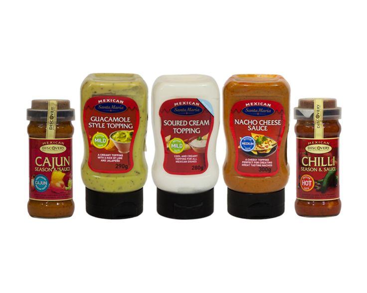 Mexican kit from Discovery (Chili Seasoning Sauce, Cajun Seasoning Sauce, Hot Nacho Cheese Sauce, Guacamole dip, Soured Cream)  $77.60