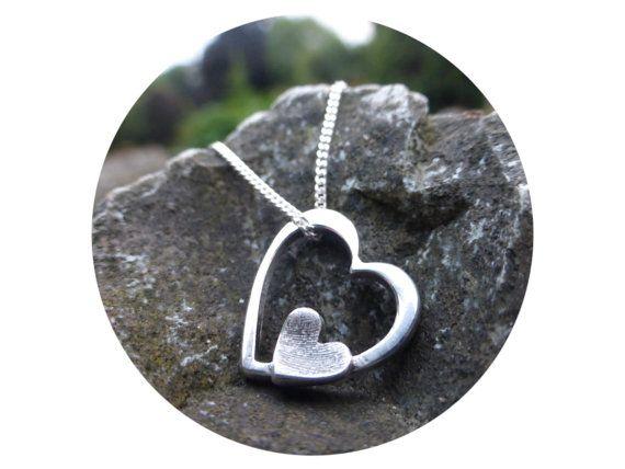 Fingerprint Necklace fine silver by RubysLittleKeepsakes on Etsy