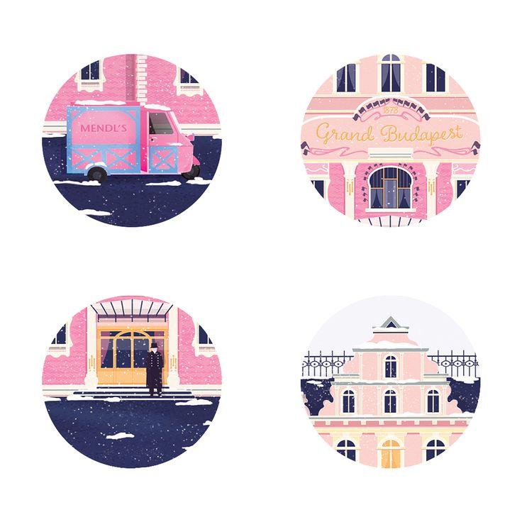 grand budapest hotel illustration
