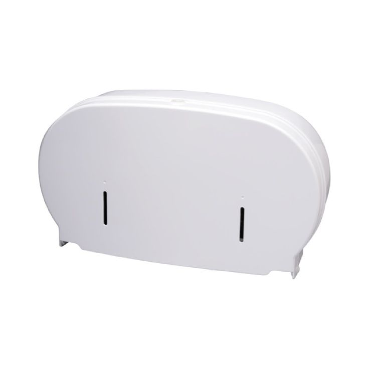 Twin micro compact toilet roll dispenser for washrooms from commercial-cleaning-supplies.co.uk