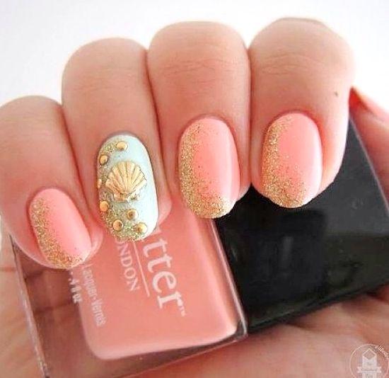 Best 25+ Beach nail art ideas only on Pinterest | Beach nail designs, Beach  nails and Summer beach nails - Best 25+ Beach Nail Art Ideas Only On Pinterest Beach Nail