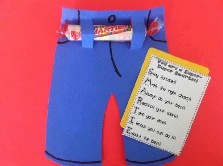 Testing treats for CRCT week. SMARTIE pants | School ... Smarties Test