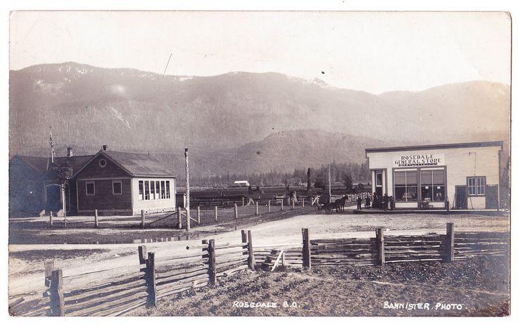 BC – ROSEDALE (Chilliwack), Bartlett Bros. General Store c.1908-1911 RPPC