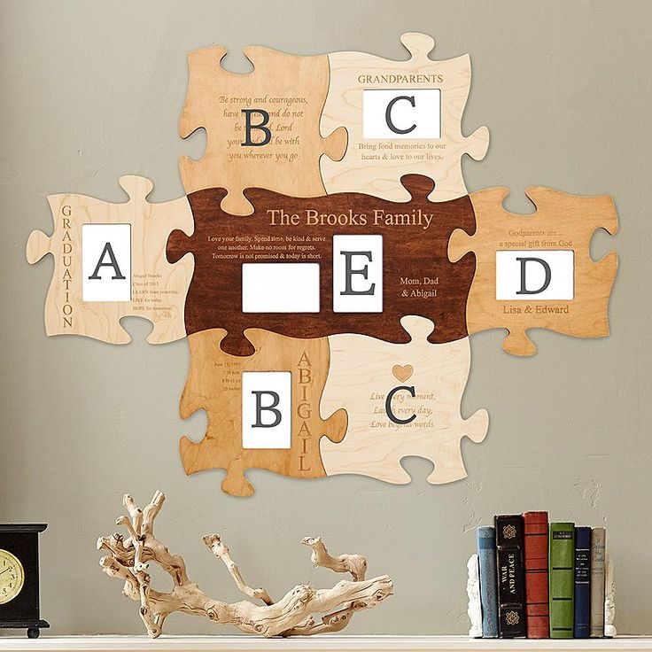Puzzle Piece Wall Decor 13 best puzzle pieces picture frames images on pinterest | puzzle