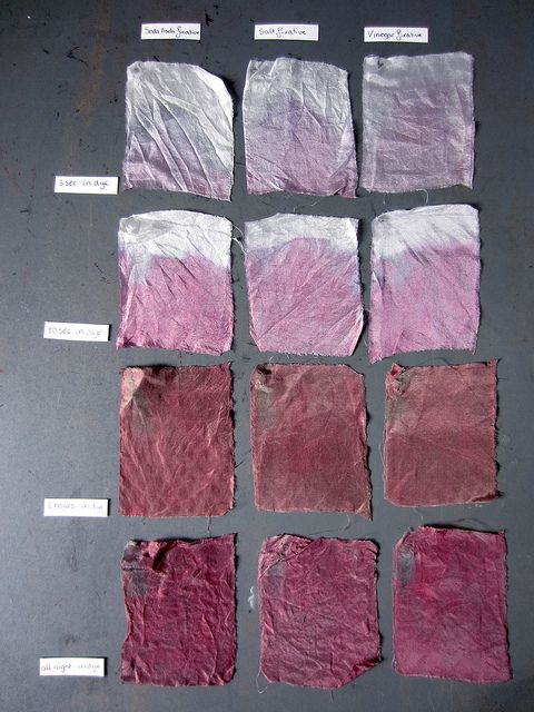 Textile dyed with hibiscus by eveden, via Flickr