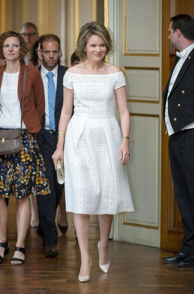 On n'est jamais mieux servi que par soi-même. Ce jeudi à Bruxelles, le Prix Reine Mathilde était remis par la reine des Belges Mathilde elle-même.