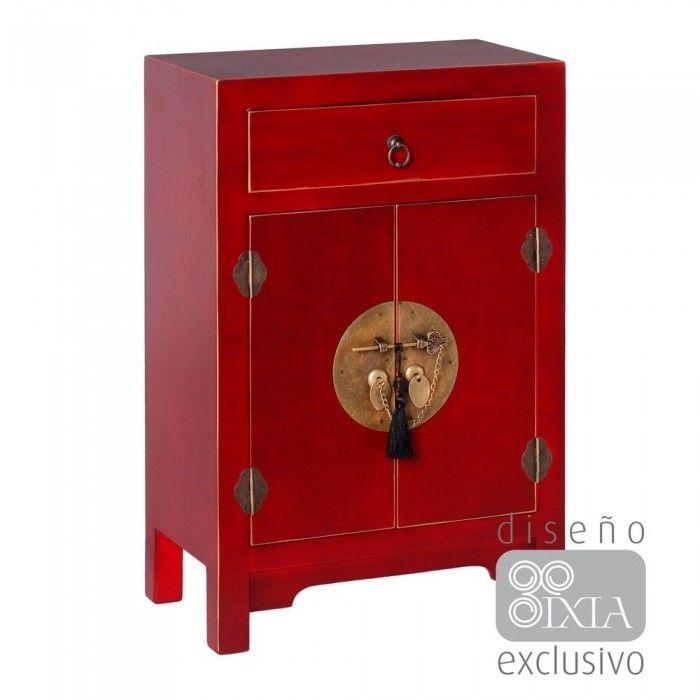 Mueble Chino Auxiliar Rojo Rubí 1 Cajón IX51152 en Nuryba.com ✓Envio Gratis ✓Mejor Precio ✓Compra Segura ✓14 Dias Devolucion