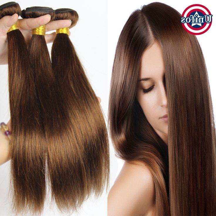 83.49$  Buy here - https://alitems.com/g/1e8d114494b01f4c715516525dc3e8/?i=5&ulp=https%3A%2F%2Fwww.aliexpress.com%2Fitem%2FAuburn-Brazilian-Hair-Straight-Auburn-Hair-Extensions-3-Bundles-Brazilian-Virgin-Hair%2F32566599039.html - Brazilian Virgin Hair Straight Brown Hair tissage bresilienne 3 Bundles Medium Brown Human Hair Extensions Chocolate Hair Weave
