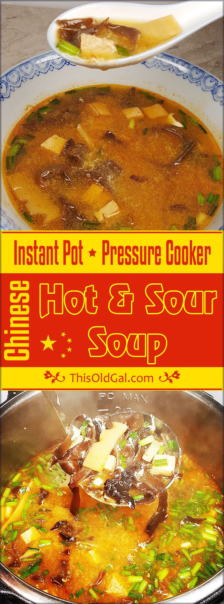 Pressure Cooker Chinese Hot and Sour Soup