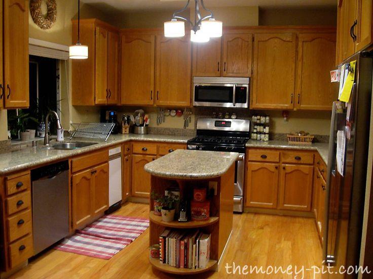 Charming How Restain Kitchen Cabinets Staining Oak Refinish Neiltortorella