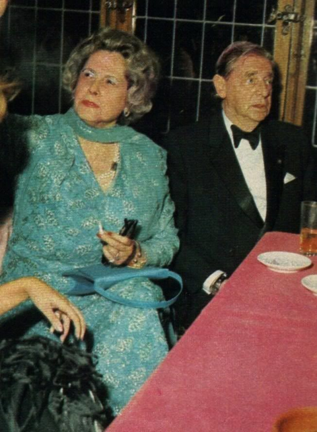 The only pic I could find of Prince Nicholas with his 2nd wife, Thereza Lisboa Figueira de Mello, who was the sister of Francisco Lisboa Figueira de Mello, former Portuguese ambassador to Germany.  This photo was taken at the wedding of Crown Prince (aka King) Leka of Albania to Susan Cullen-Ward.  Three years later, in 1978, Nicholas died.