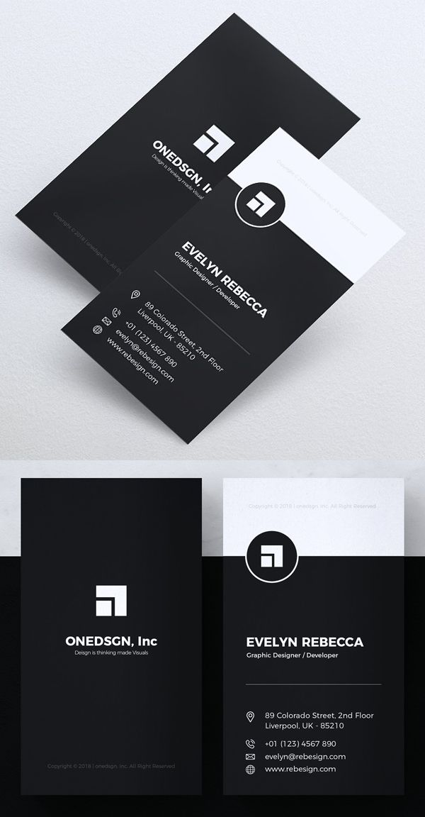 Minimalist Business Card Graphic Design Business Card Professional Business Card Design Calling Card Design
