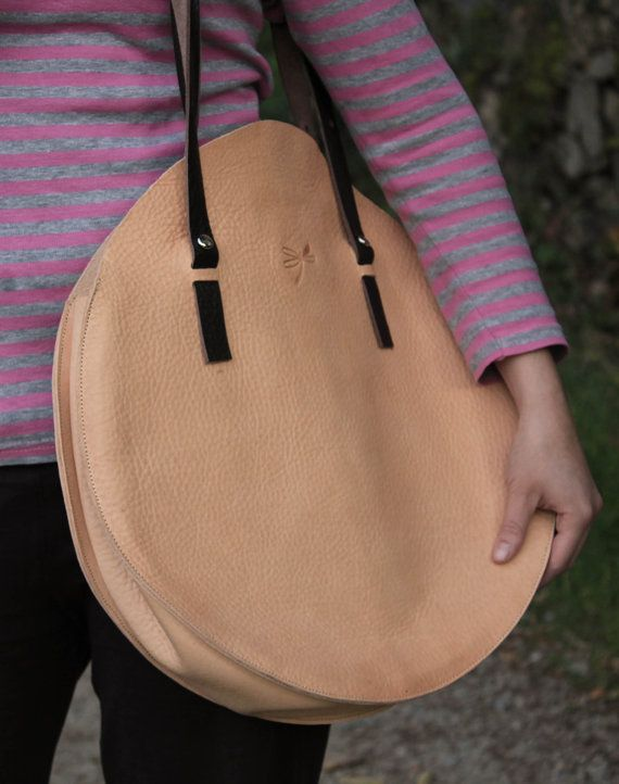 Large leather bag. Handmade bag. Oversized bag. For everyday and for the weekend.